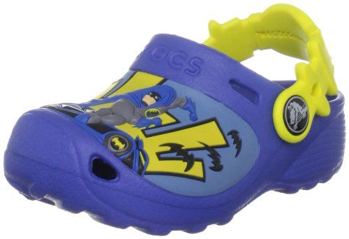 Crocs Caped Crusader Clog (Toddler/Little Kid) -                     Price: $  29.99             View Available Sizes & Colors (Prices May Vary)        Buy It Now      This custom clog features your little ones favorite character Batman.Your little superhero can run, play and foil evil-doers in the Caped Crusader clog from Crocs....