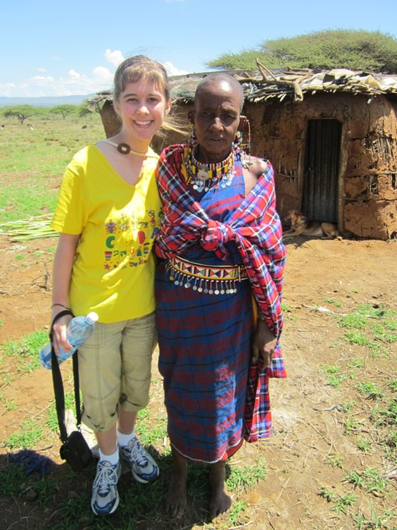 A volunteer with her Maasai friend in Kenya www.developingworldconnections.org