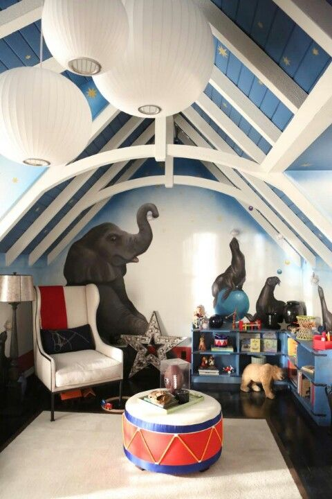 Gorgeous circus theme boy nursery too bad i hate the for Circus themed bedroom ideas