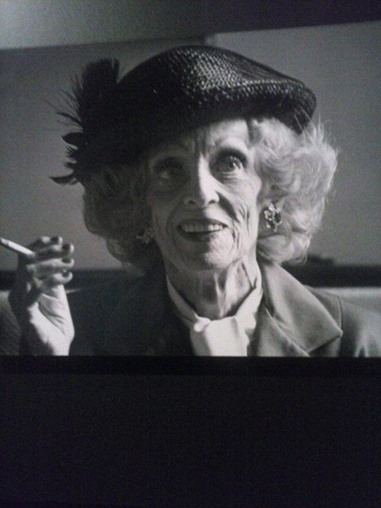 "Bette Davis. Her answer on the q on growing old ... ""Tou can not be a pussy growing old "" ..  Love that !"