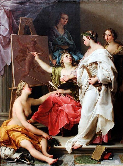 Allegory of the Arts. 1740. Pompeo Batoni. Italian. 1708-1787. oil on canvas.:
