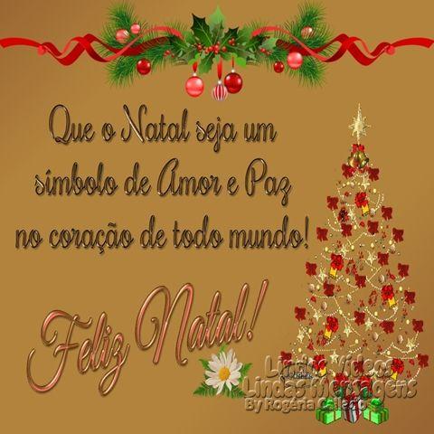 Que o natal seja um simbolo de amor e paz no coração…