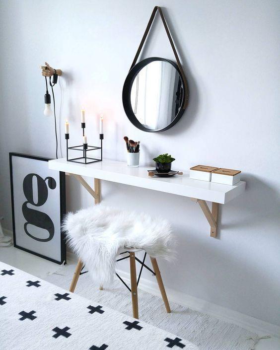 13 Ideas para hacer un escritorio minimalista con repisas flotantes