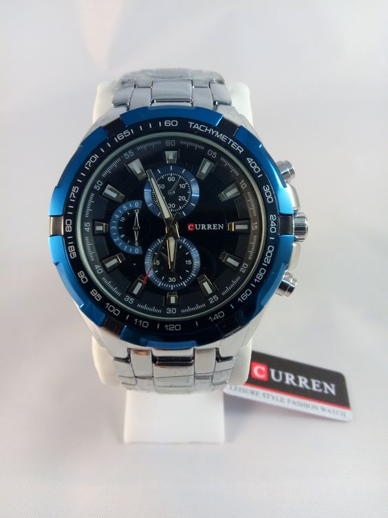 Brand New Curren Automatic Watch Quartz Movement Blue Dial