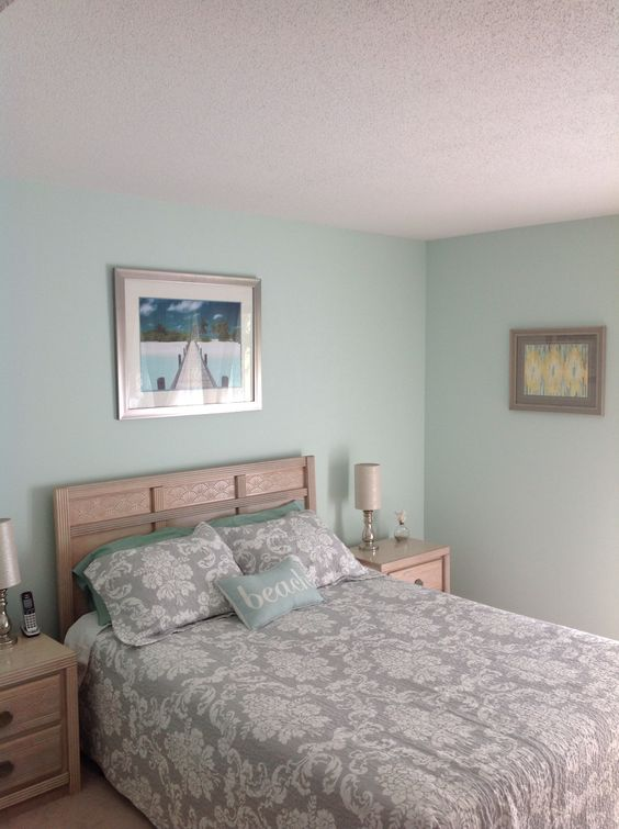 finished bedroom behr water paint from home depot
