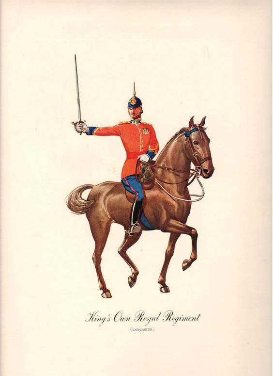 King's Own Royal Regiment Print circa 1930 by lehiboublanc on Etsy, $14.00