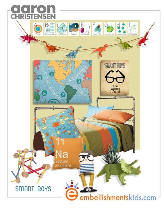 Geek chic nerd decor and boy rooms on pinterest for Celebrity kids bedroom designs