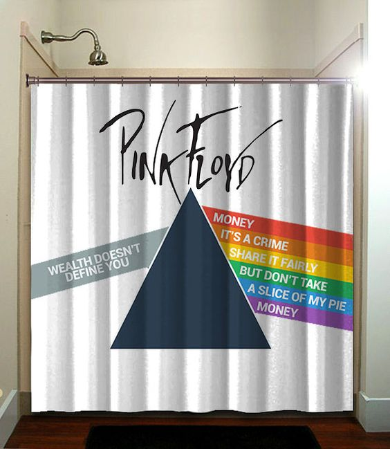 Curtains Ideas absolutely curtains pink floyd : PINK FLOYD printed waterproof polyester fabric shower curtain with ...