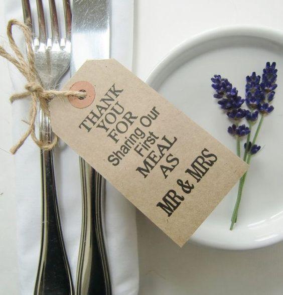 Rustic Wedding Table Decor-Wedding Favors-THANKYOU by IzzyandLoll