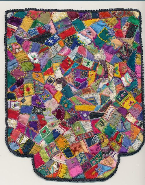 Anlaby Dollshouse Minis and Tiny Textiles: Crazy Quilt Bed Quilt