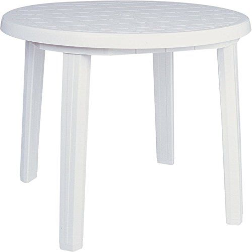 Resin Patio Furniture, Round Plastic Patio Table