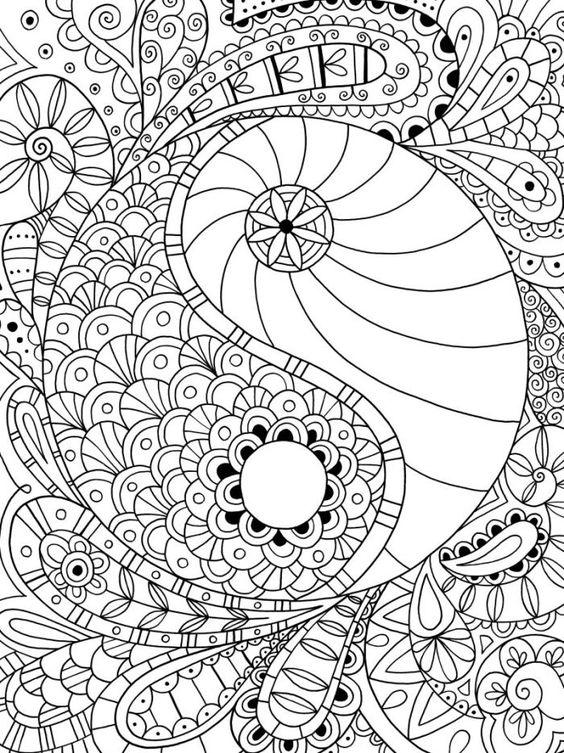 Yin Y Yang Ooo Mandala Para Colorear