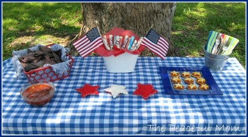 July 4th Budget Menu--The Peaceful Mom