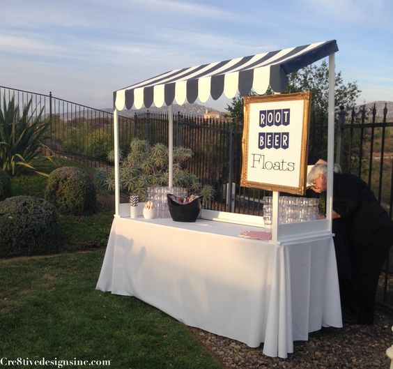 Root beer float station booth decorating pinterest for Build your own canopy frame