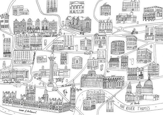 V illustration - London map