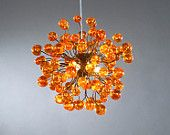 Hanging lamp, Orange lamp, orange bubbles