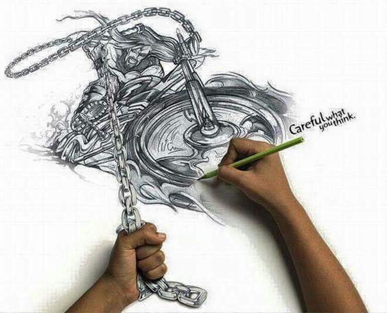 Creative pencil drawings