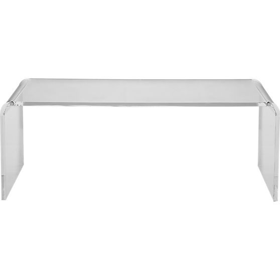 peekaboo acrylic tall coffee table | CB2