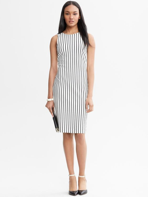 Mad men collection vertical stripe dress- BR