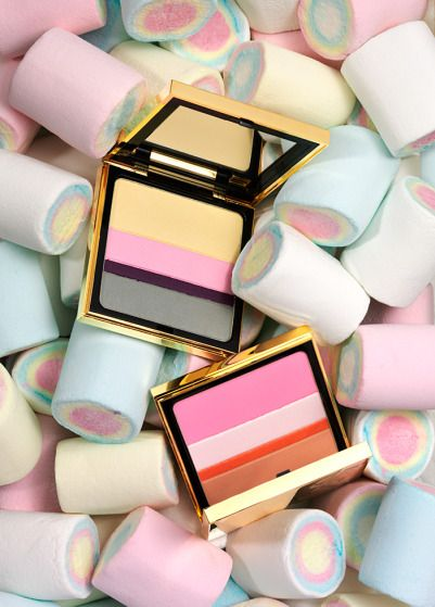 Pastels. Sweets. Make up.  Clever use for sweets, perhaps not versatile enough for varied photoshoot.