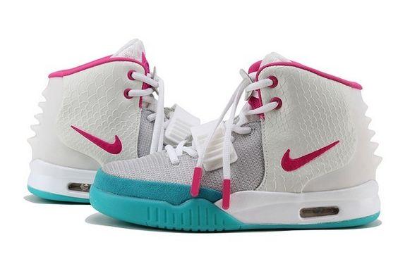 Womens Nike Air Yeezy Kanye West Shoes White/Grey/Blue   Fashion Nike \u0026amp; Jordan Sneakers   Pinterest   Kanye West, Women Nike and Nike Air