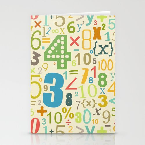 boy cream numbers Stationery Cards