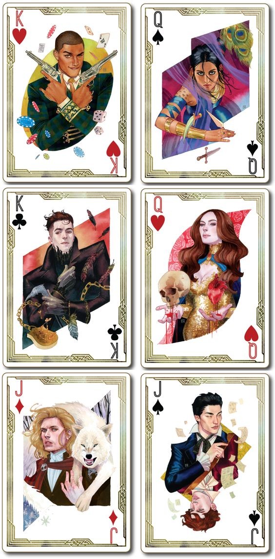 All of the character art from @kevinwada's new Six of Crows / Crooked Kingdom poster has been revealed!