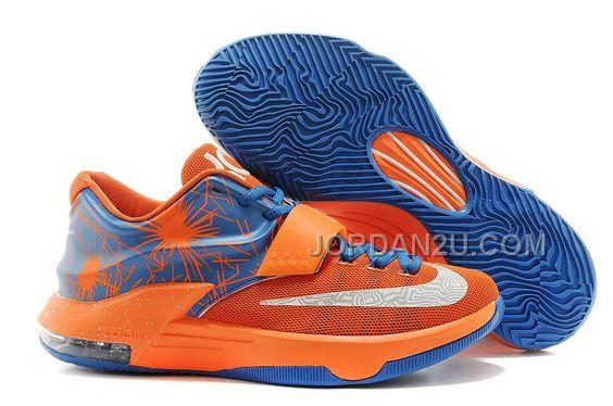 http://www.jordan2u.com/nike-kd-7-men-orange-blue-white-sale.html Only$95.00 #NIKE KD 7 MEN ORANGE BLUE WHITE SALE #Free #Shipping!