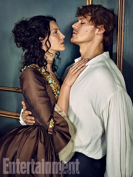 """Balfe says she and Heughan share similar personalities. """"We like to work hard and we have quite a silly side to our personalities. We like to goof around.""""    Image Credit: MARC HOM for EW #Outlander"""