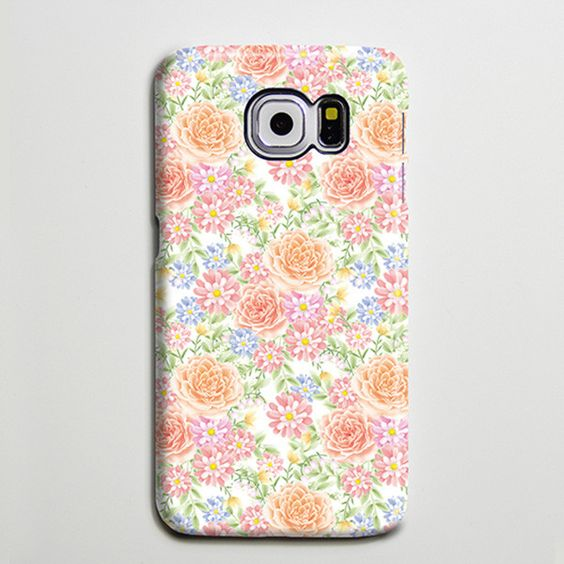 Summer Flowers Floral iPhone 6 Case Galaxy s6 Edge Plus Case Galaxy s6 s5 Case Samsung Galaxy Note 5 Case s6-017