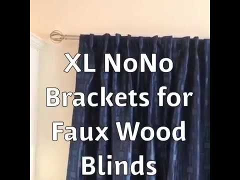 Hang Curtains Over Faux Wood Blinds Youtube Curtains With Blinds Faux Wood Blinds Curtain Rod Brackets