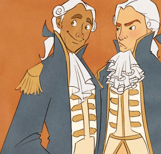 Someone's drawing of Groves and Gillette. It's really sad that I love the most obscure and minor characters of Pirates of the Caribbean more than the majority of the leads [Norrington excluded. He is the man.]