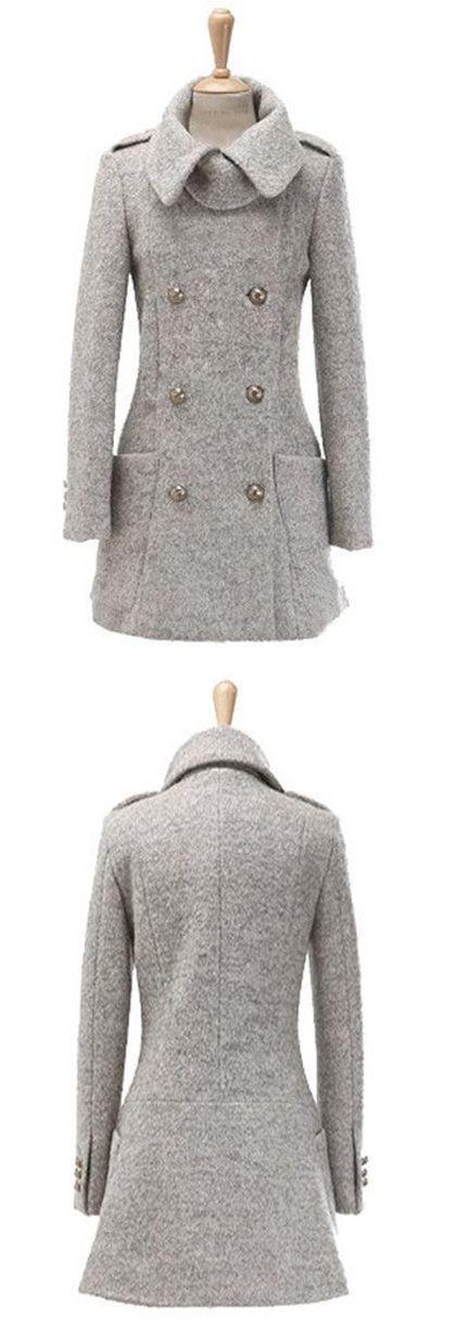 manteau manteaux gris la mode 2014 couleur de chute abri style gray doubled slaving doubled breasted