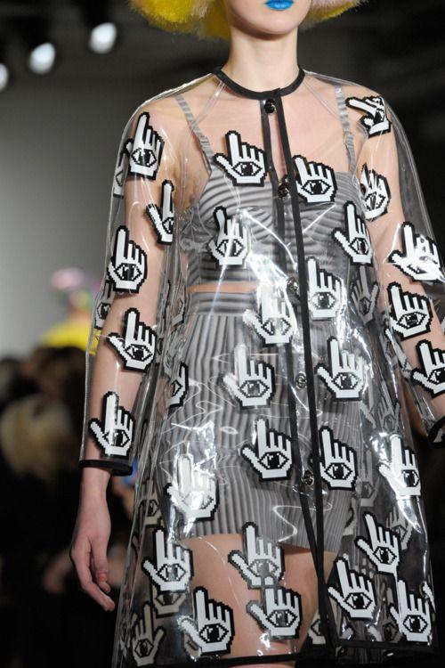mouse rain coat Transparency, transparent, clear, fashion, designer, catwalk, design, contemporary, modern