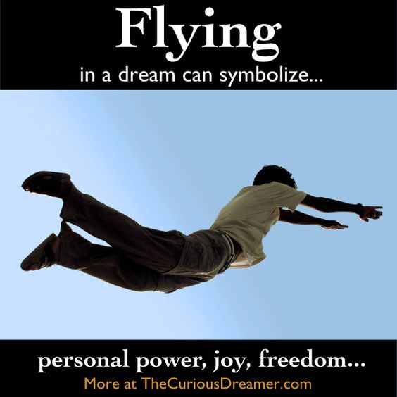 Dreaming that you are flying can symbolize...   More at TheCuriousDreamer.  #DreamMeaning #DreamSymbol