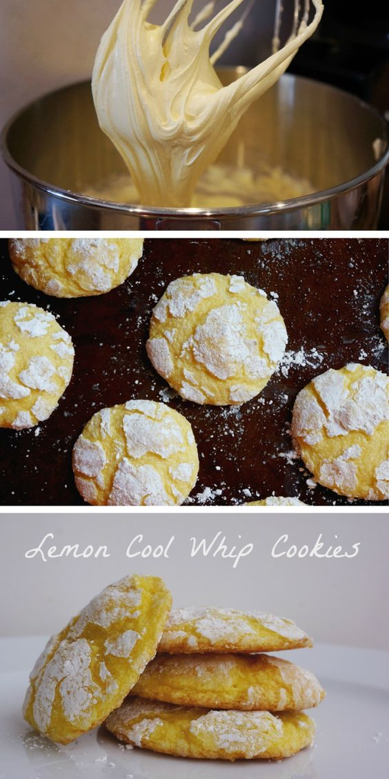 Lemon Cool Whip Cookie Recipe | super easy cookie recipe for a holiday cookie exchange!