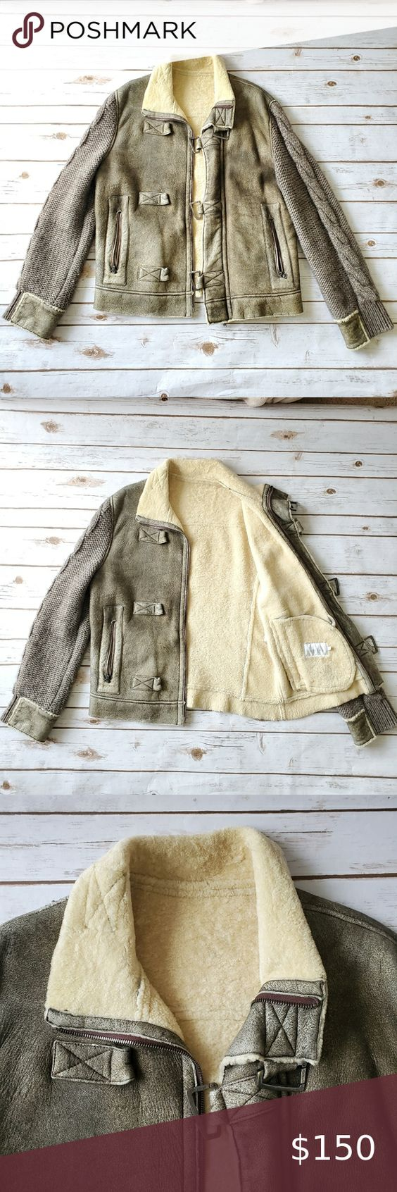 Iceberg Sheepskin Jacket Sheepskin Jacket Real Leather Jacket Black Winter Jacket [ 1692 x 564 Pixel ]
