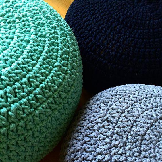 подборка изделий связанных хлопковым шнуром для вязания Trapillo