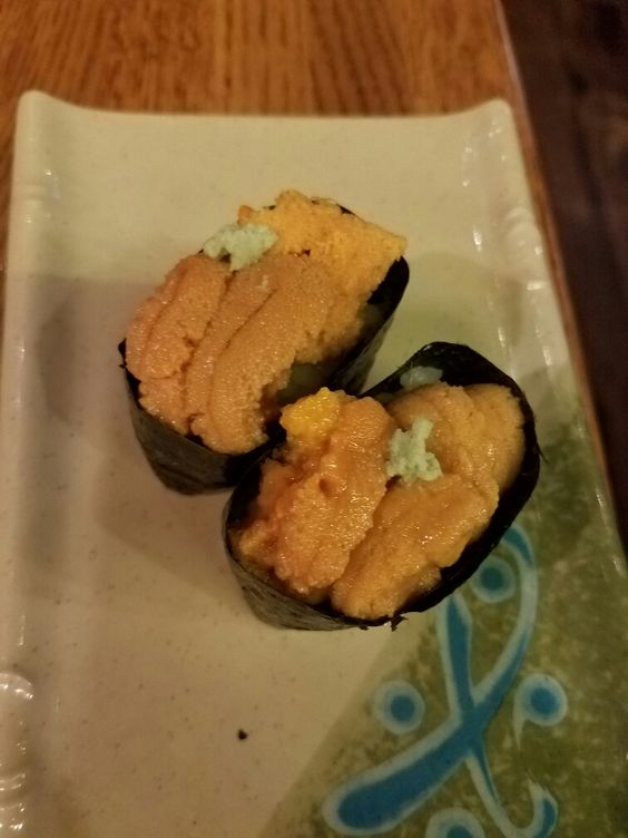 Uni at Sansei...Jason said it was just as good as any other nice sushi place.