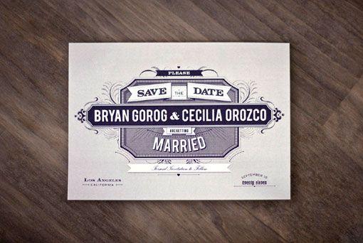 Arian Franz: Navy & Gold Wedding Inviation Package