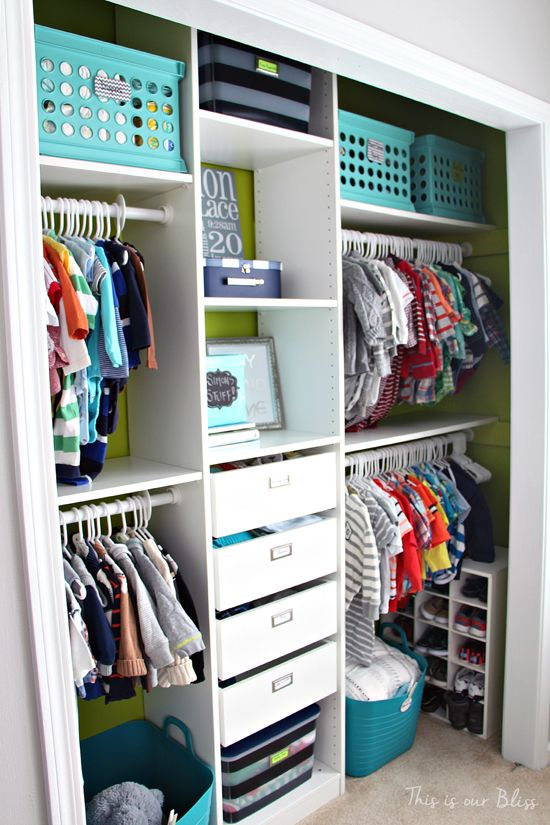 Sweet Baby Storage    How can I create this closet set up for an adult? What changes would need to be made? (IKEA Pax Closet System)