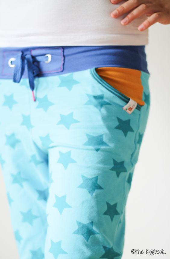 ki-ba-doo frauliebstes stars lillestoff sewing basichose fashion