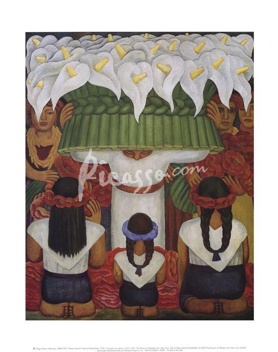 Flower Festival: Feast of Santa Anita, 1931 by Diego Rivera art print