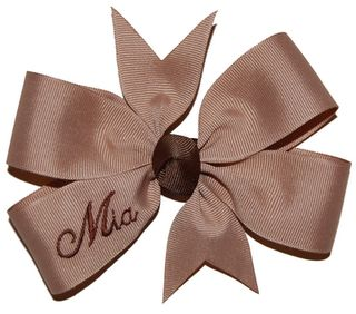 I must get personalized bows such as this one