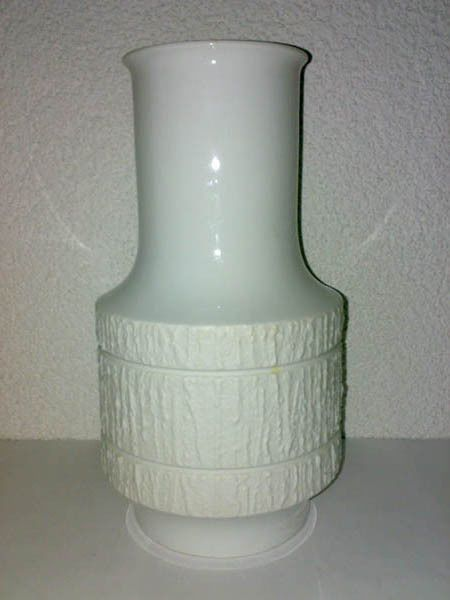 Vase OP Art THOMAS Porzellan Relief 60s 70s Mid Century H: 29 cm Great Design **
