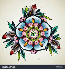 Resultado de imagen para old school floral tattoos