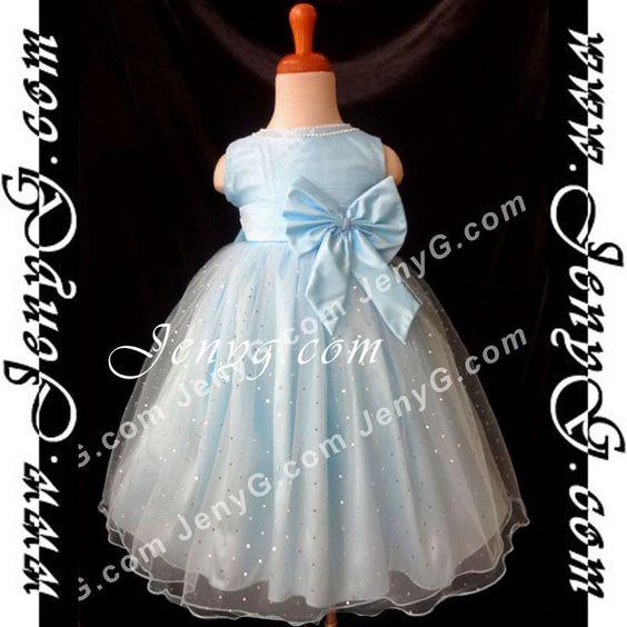 #SB01 Flower Girls/Wedding/Formal/Holiday/Party Gowns Dresses Sky Blue 0-4 Years #JenyG #DressGown #FlowerGirlsFormalBirthdayChristeningCommunionsPartyEasterChristmasBallDressyEverydayHolidayPageantWedding