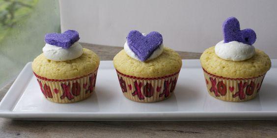 Cupcakes de vainilla para el Día de los Enamorados | En mi cocina hoy