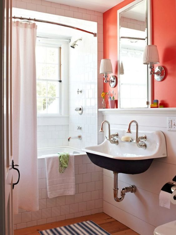 School Bathroom Sinks : Like the old-school sink Bath Pinterest Traditional Homes ...