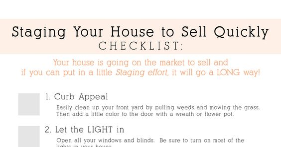 Staging Your House to Sell